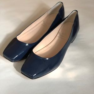 L'Artigiano Di Brera Square patent leather flats